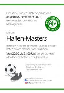 Hallen Masters, neues Sportangebot
